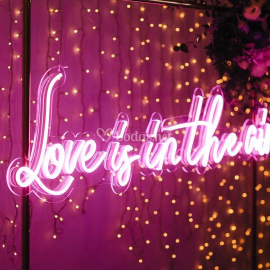 Alquiler de neones para boda