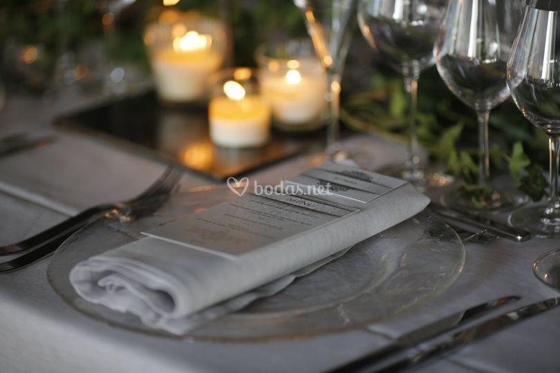 Detalle en mesa