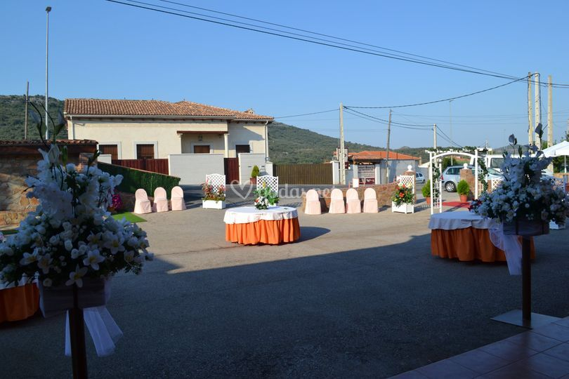 Terraza y decoración de ceremonia