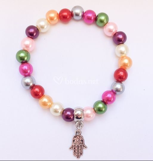 Pulsera perlas de colores