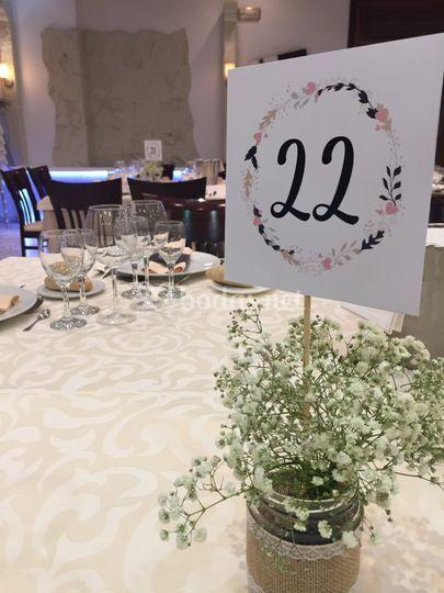 Numero mesa personalizado