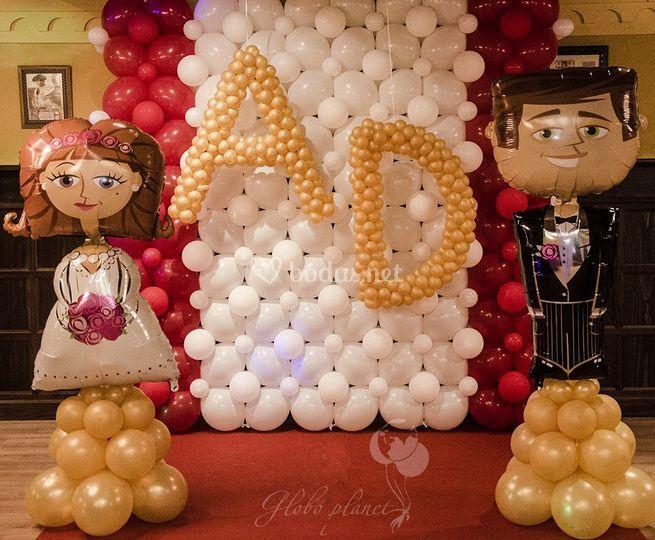 Photocall decorado con globos