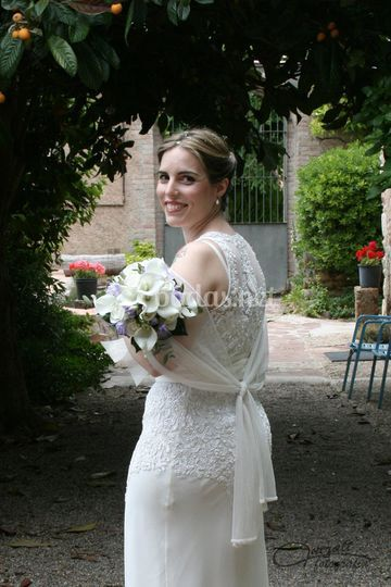La novia de espalda
