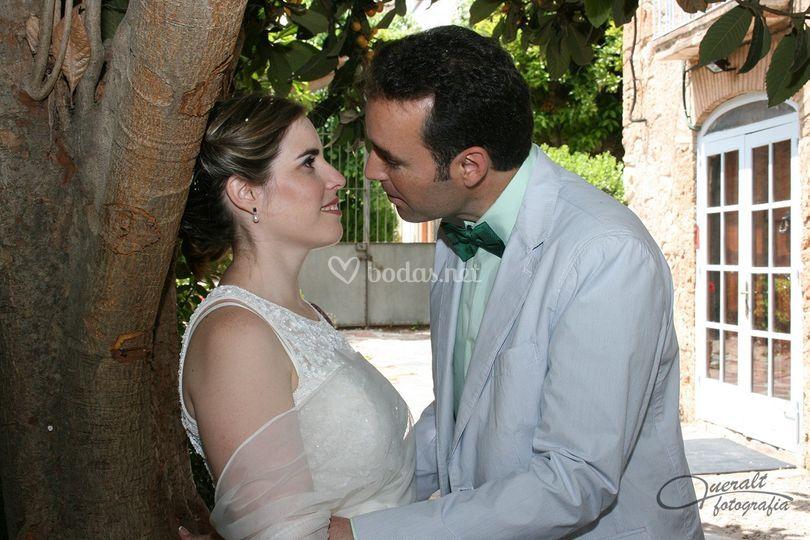Beso de la pareja