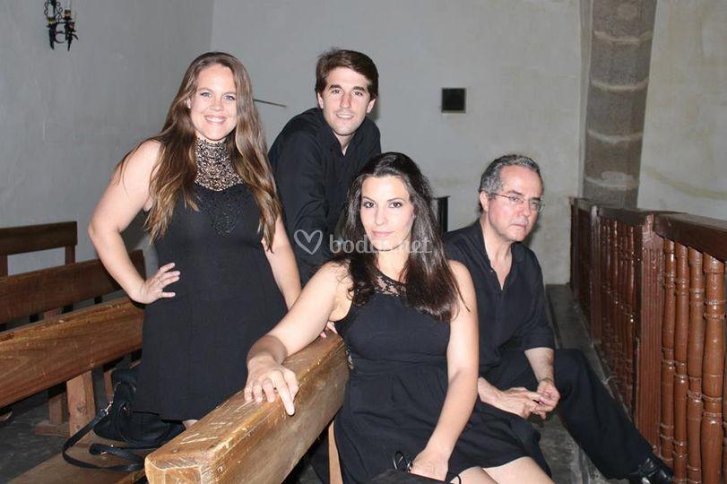 """Con el cuarteto """"Crescendo"""""""""""