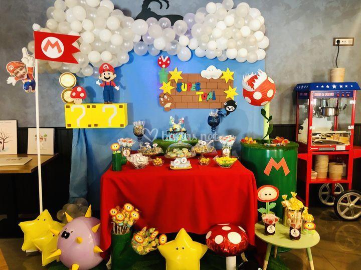 Mesa temática de Súper Mario