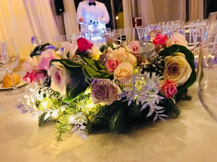 Flores con luz