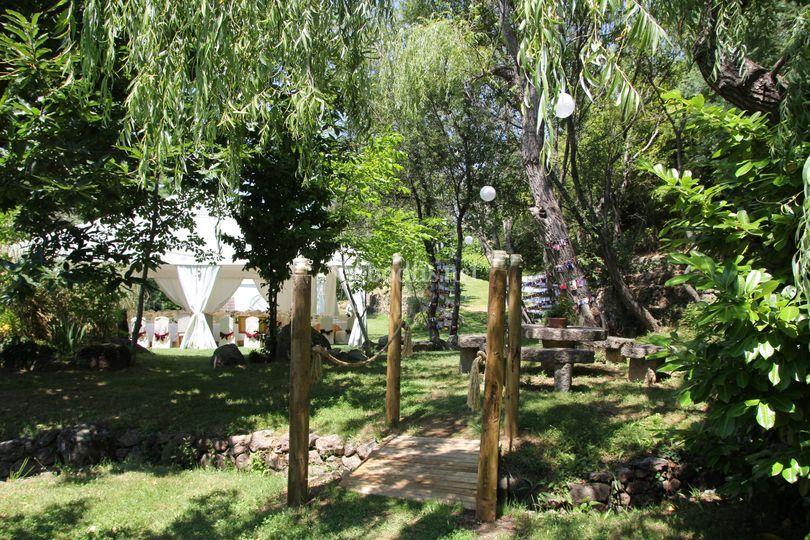 Jardines del complejo de día