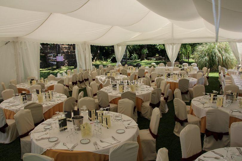 Banquete con carpa