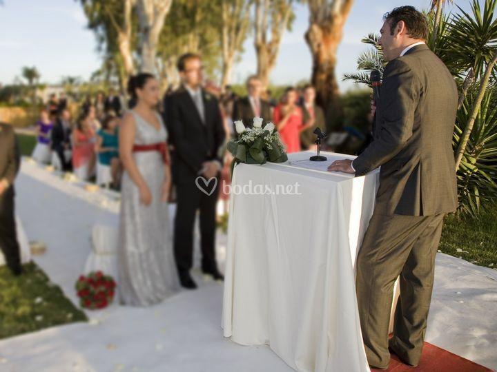 Ceremonia en la albufera de Valencia