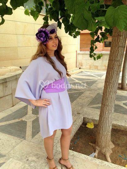Vestido en tono violeta
