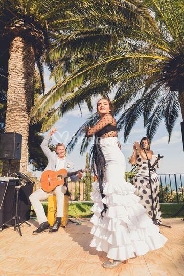 Show con bailaora flamenco
