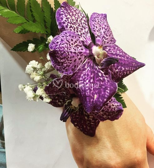 Brazalete de flor natural