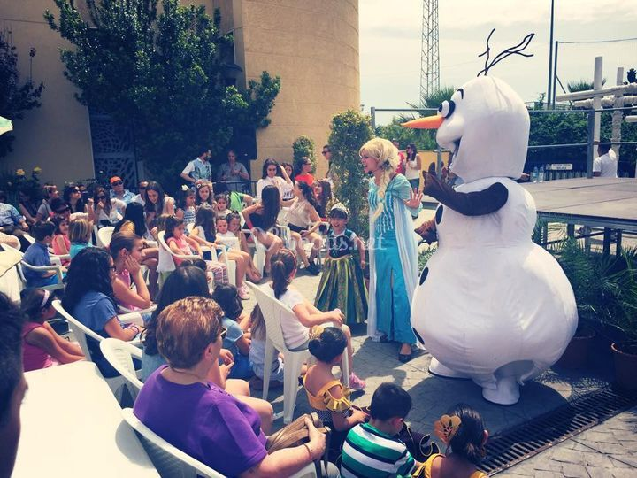 Olaf y sus abrazos calentitos