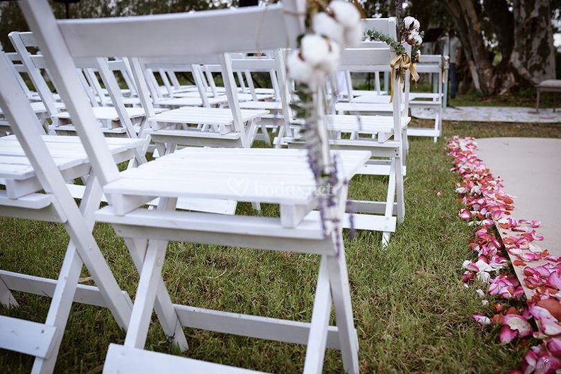 decoración boda civil de restaurante esturión | foto 25