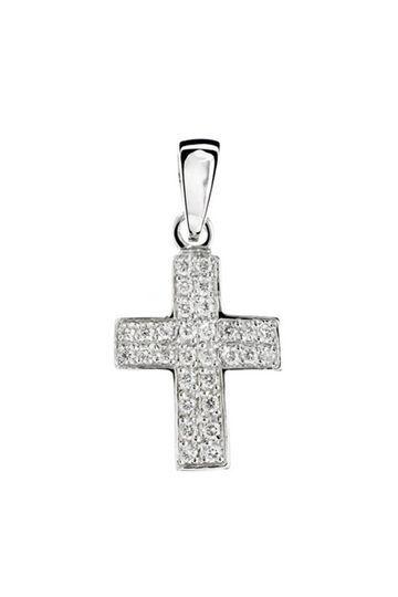 Cruz de oro y circonitas