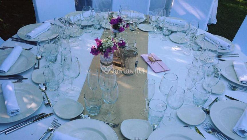 Detalles de las mesas
