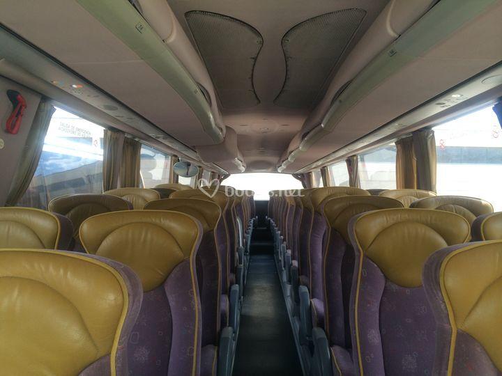 Interior del autobús