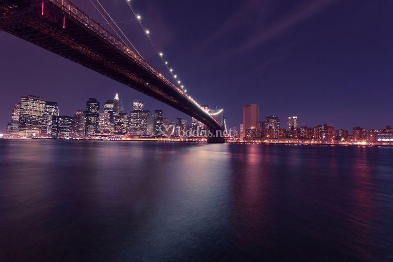 Panorámica nocturna NY