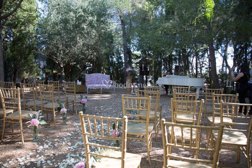 Ceremonia exterior en ag