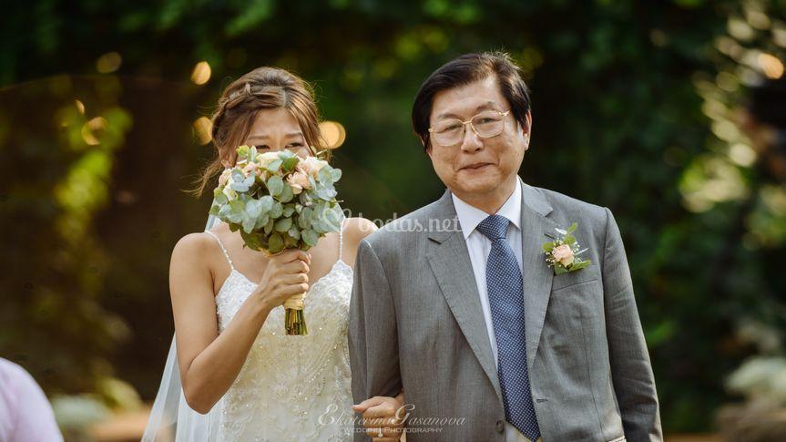 Ceremonia, lugar, novia