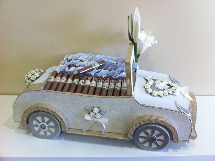 Expositor coche de boda