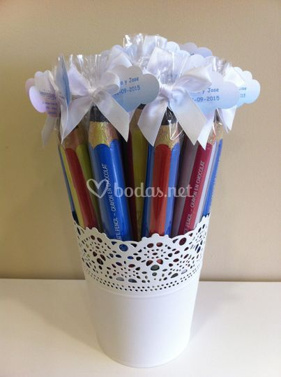 Lápices de chocolate
