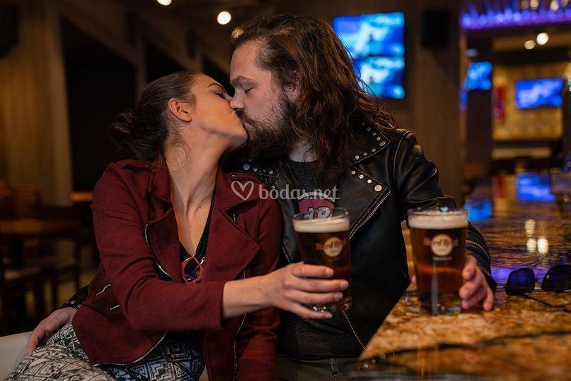 Besos y cerveza