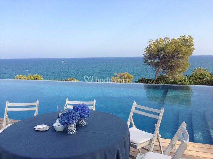 Blanco y azul de mas a casa del mar foto 3 - Masia casa del mar ...