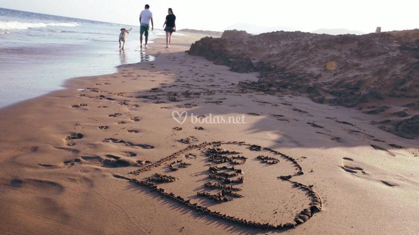 Por la playa