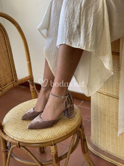 Zapato Beatriz terciopelo