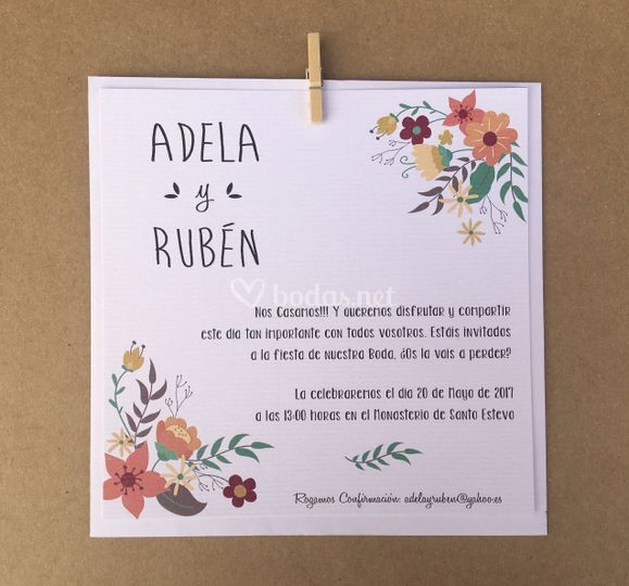 Invitacion papel verjurado