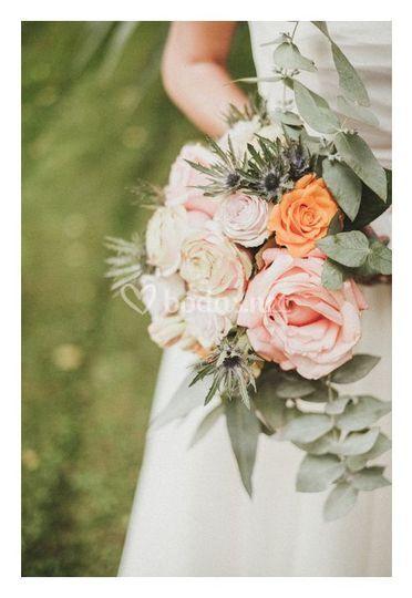 Bouquet tonos empolvados