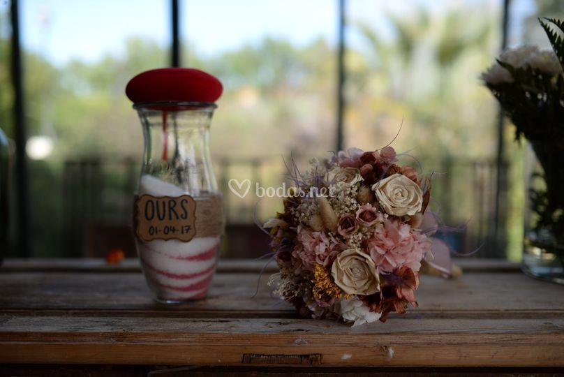 Ramo de novia, flores preservadas