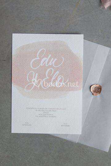 Colección caligrafía Blush