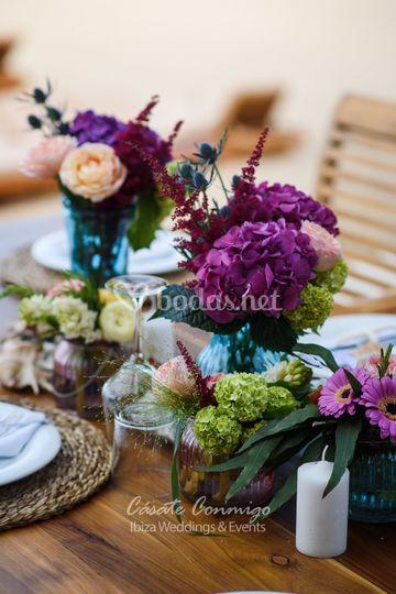Bonitos centros de mesa