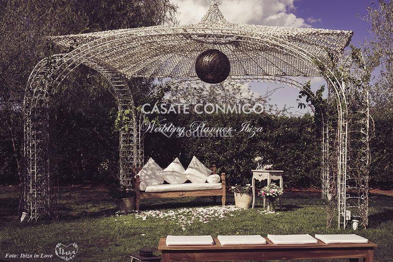 Altar estilo romántico vintage