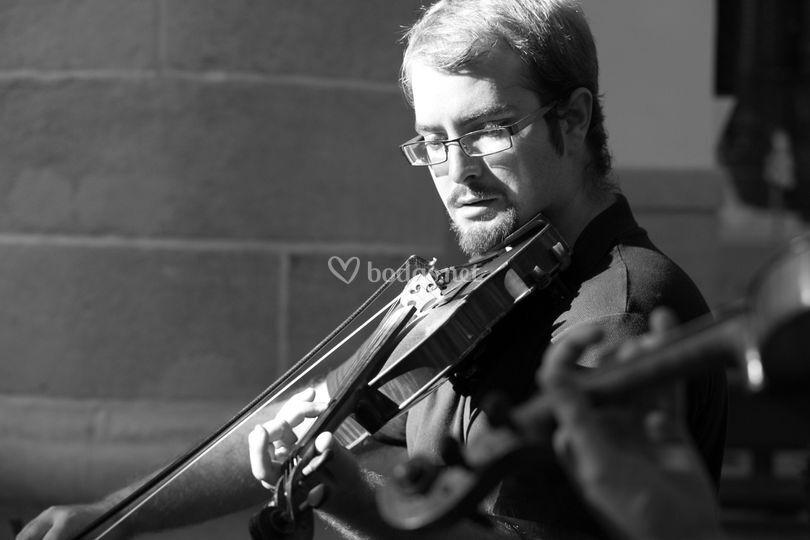 Violinista b/n
