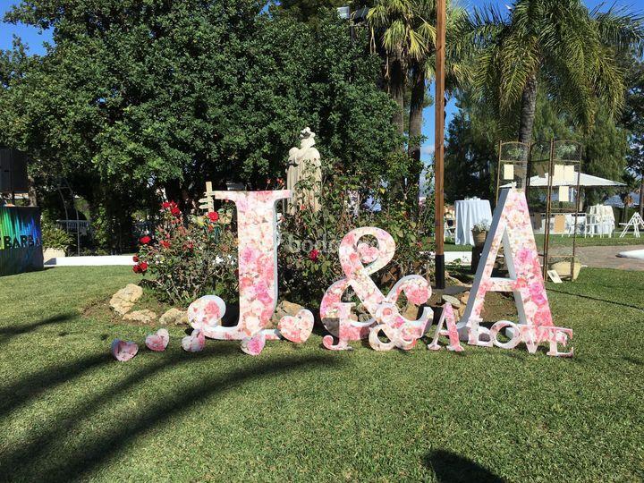 Pack de iniciales con flores