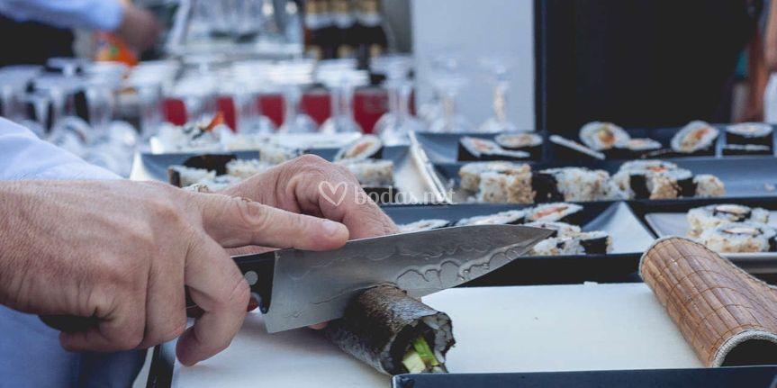 Sushi para bodas