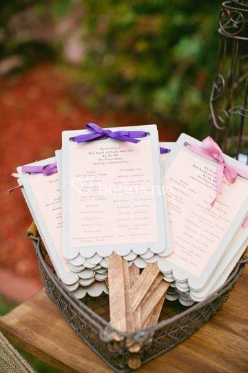 Abánicos boda