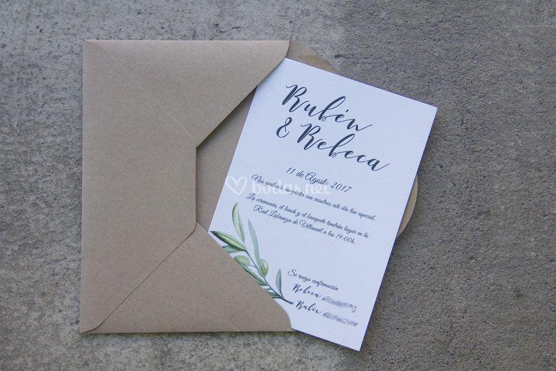 Invitación rama olivo