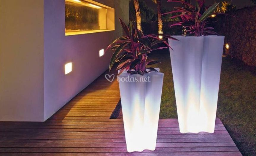 Macetas con luz led
