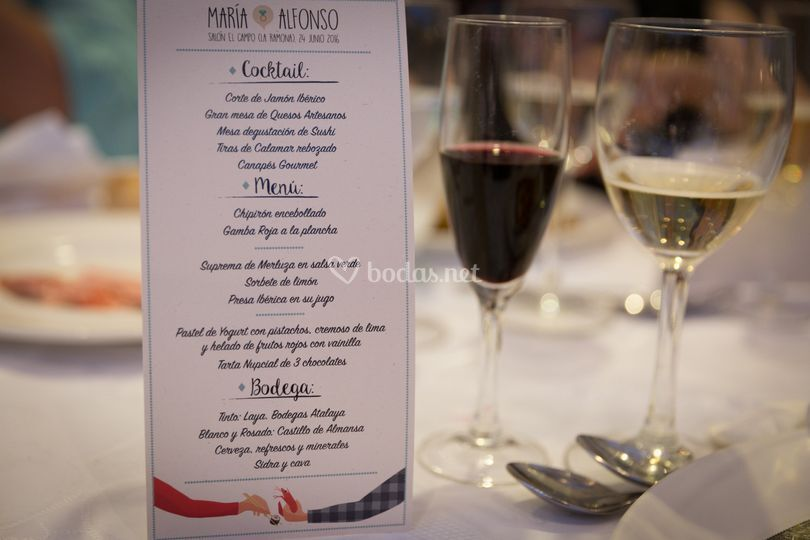 Carta del banquete