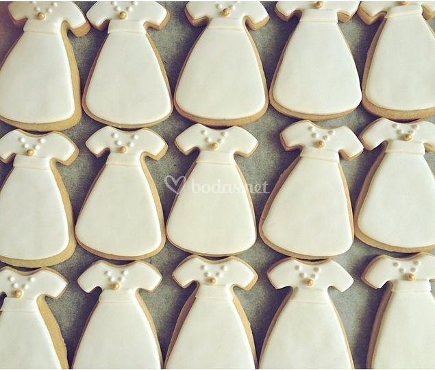 Galletas de vestido de novia