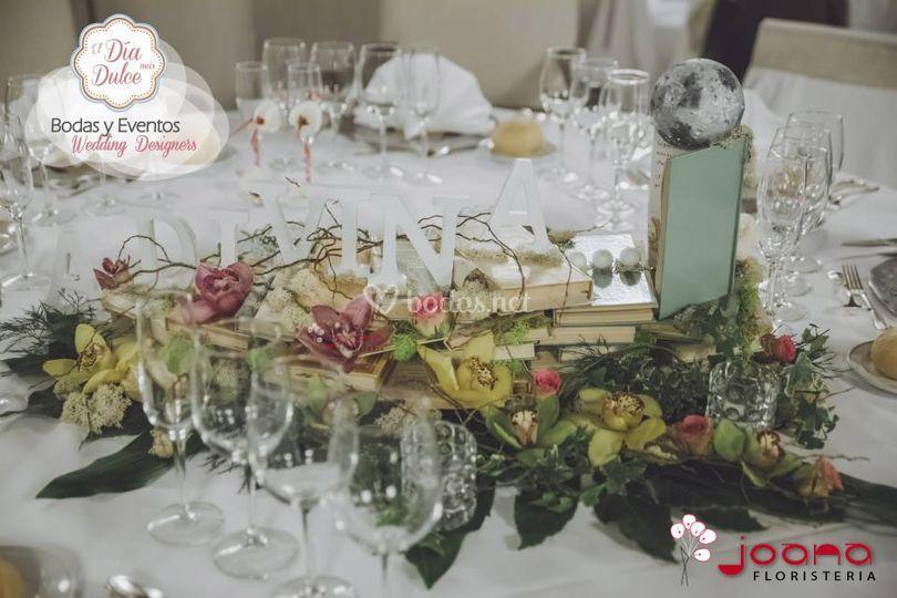 Mesa nupcial boda cuentos