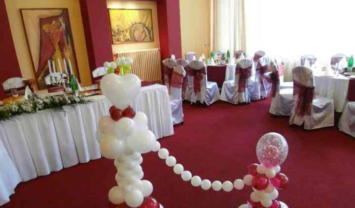 Globos en una boda