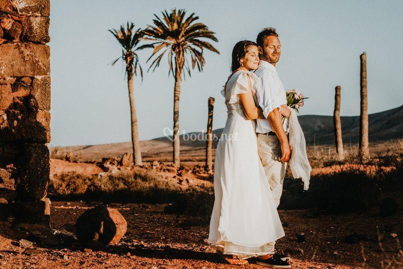 Boda en el desierto