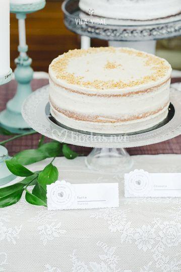 Tarta Layer Cake de Turrón
