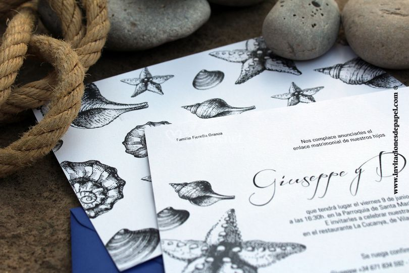 Invitación classic oceánica